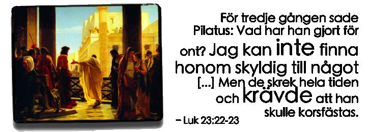 Jesus inför Pilatus