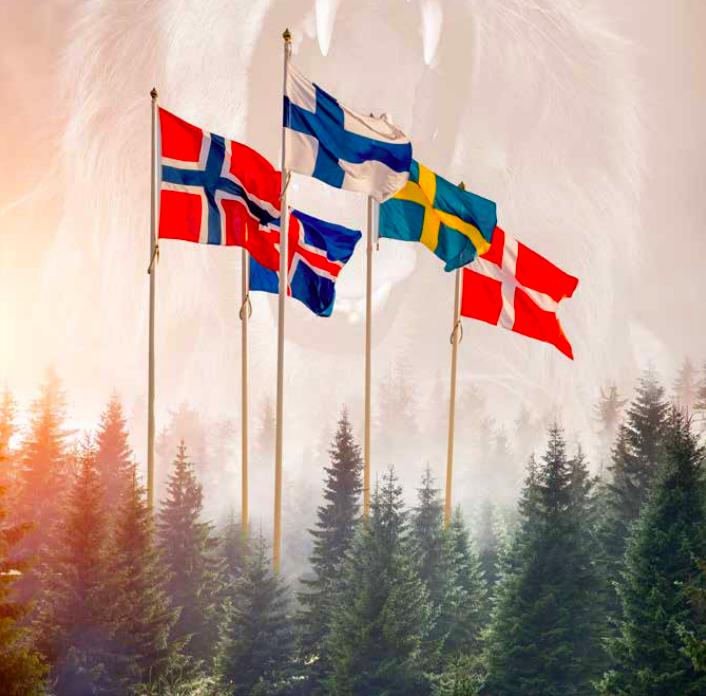 nordiska länders flaggor
